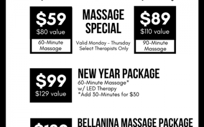 January Massage Therapy Specials