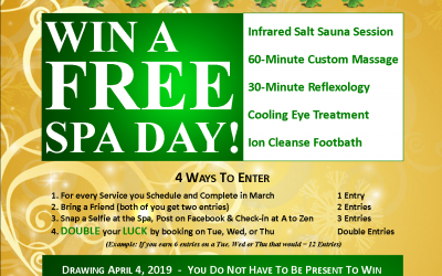 March Specials + A Chance to win a FREE Spa Day!