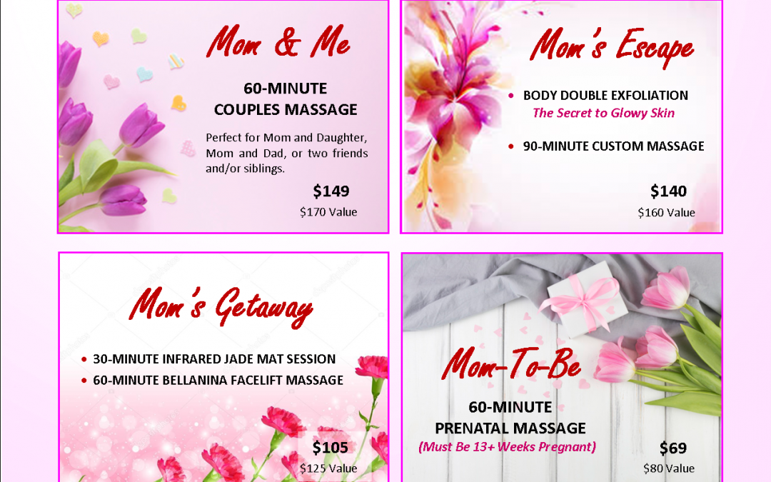 Preview our Mother's Day Specials
