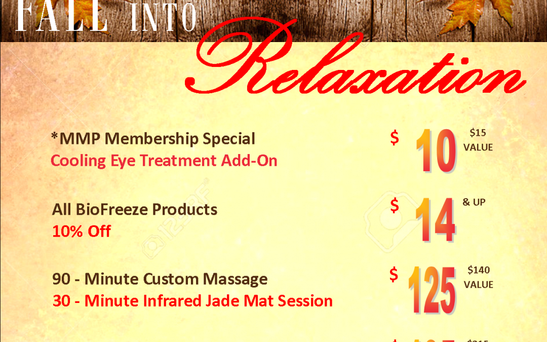 FALL Specials available September 1st.